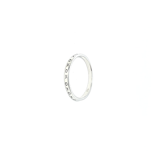 bohemian style rings silver stacking kiss ring