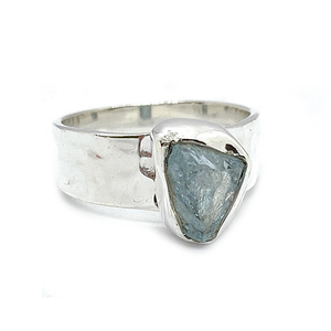 Koa Aquamarine Raw Gemstone Rings