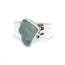 Load image into Gallery viewer, Koa Aquamarine Raw Gemstone Rings