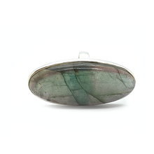 Load image into Gallery viewer, big statement labradorite sterling silver ring