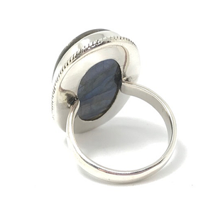 big statement labradorite ring