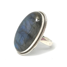 Load image into Gallery viewer, labradortie boho gypsy style silver ring