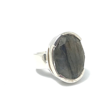 Load image into Gallery viewer, labradorite sterling silver statement ring