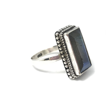 Load image into Gallery viewer, boho style labradorite gemstone ring