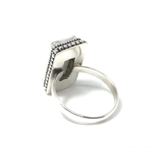 Load image into Gallery viewer, large labradorite rectangle silver ring