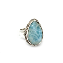 Load image into Gallery viewer, larimar gemstone sterling silver bohemian style ring