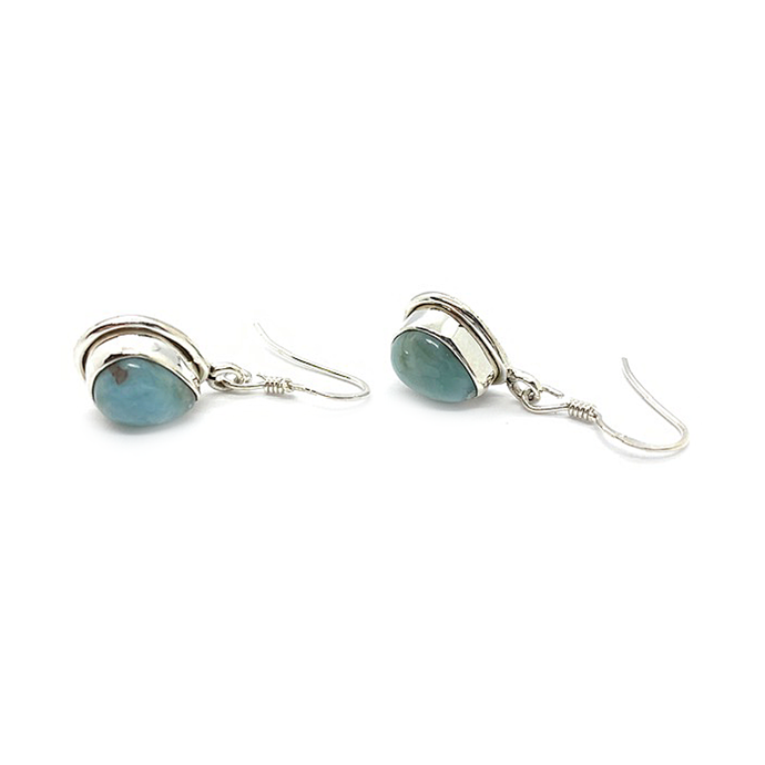 larimar stud teardrop sterling silver earrings