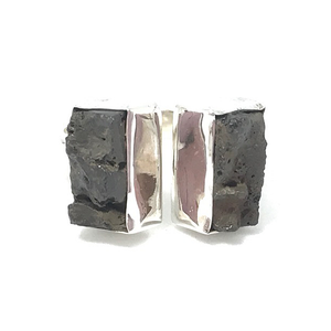 sterling silver lava stone ring