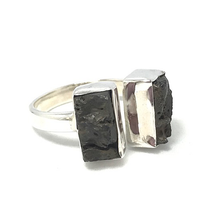 Load image into Gallery viewer, lava stone gemstone ring
