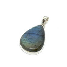 Load image into Gallery viewer, labradorite sterling silver teardrop shaped pendant