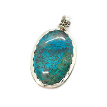 Load image into Gallery viewer, shattuckite sterling silver oval gemstone pendant