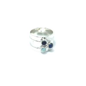 larimar gemstone ring sterling silver