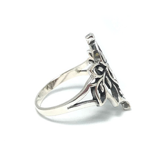 Load image into Gallery viewer, sterling silver lotus ring