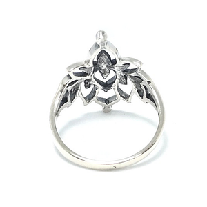 lotus ring in sterling silver