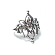 Load image into Gallery viewer, silver lotus ring
