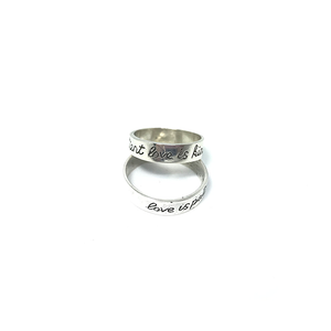 sterling silver love promise ring