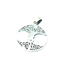 Load image into Gallery viewer, Entwined Lovers Round Pendant Sterling Silver - Stoned Hilda Discover the soul of Gemstones