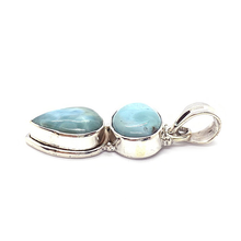 Load image into Gallery viewer, larimar sterling silver pendant