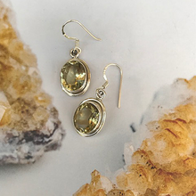 Load image into Gallery viewer, gemstone lemon quartz silver earrings