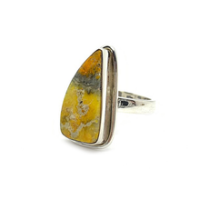 Load image into Gallery viewer, bumble bee jasper gemstone statement sterling silver ring