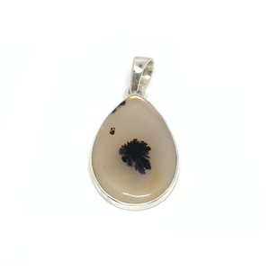 montana agate pendant with sterling silver