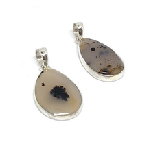 Load image into Gallery viewer, montana agate gemstone silver pendant