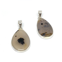 Load image into Gallery viewer, montana agate silver pendant