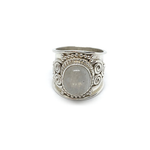 wide sterling silver moonstone handmade gemstone ring