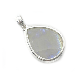 Moon Sun Pendant Round Set In Sterling Silver - Stoned Hilda Discover the soul of Gemstones