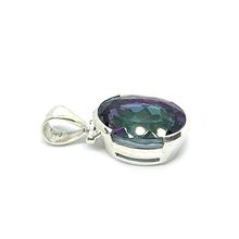 Load image into Gallery viewer, oval mystic topaz silver pendant