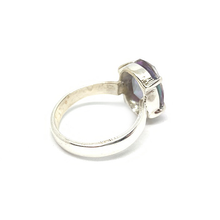 Load image into Gallery viewer, oval mystic topaz gemstone sterling silver claw ring