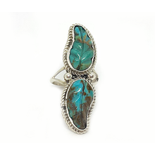 Load image into Gallery viewer, navajo style boho turquoise sterling silver ring