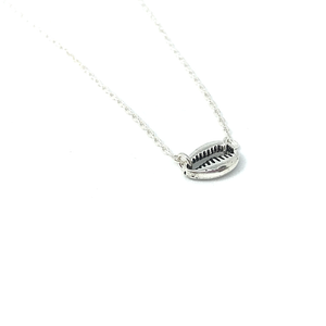 sterling silver cowrie chain necklace
