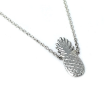 Load image into Gallery viewer, silver pineapple bohemian necklace