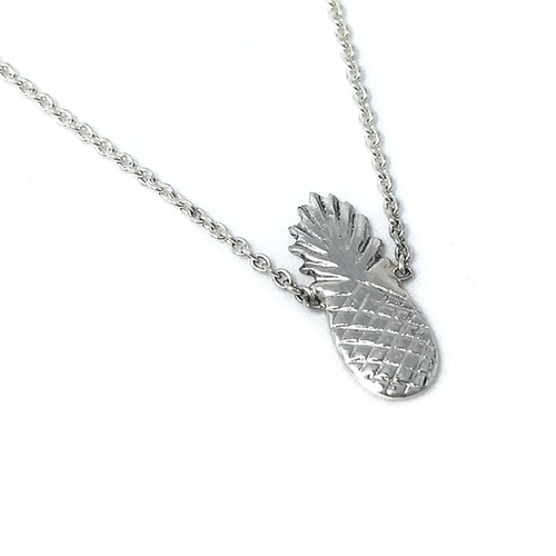 silver pineapple bohemian necklace
