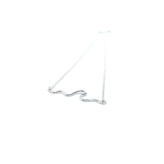 sterling silver boho wave necklace chain