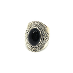 big statement black onyx gemstone sterling silver ring