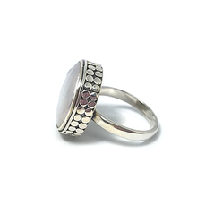Load image into Gallery viewer, freshwater pearl silver tribal style ring