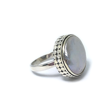 Load image into Gallery viewer, freshwater pearl silver ring