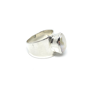 big statement sterling silver freshwater pearl ring