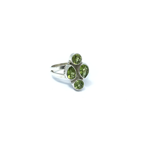 Peridot Gemstone Ring Sterling Silver - Stoned Hilda Discover the soul of Gemstones