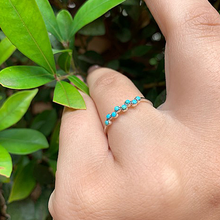 Load image into Gallery viewer, turquoise sterling silver petite gemstone ring