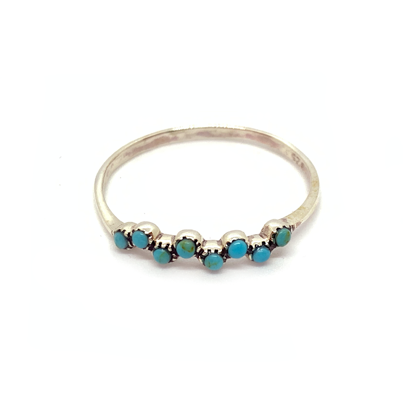 petite turquoise sterling silver ring