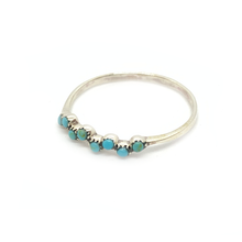 Load image into Gallery viewer, petite turquoise sterling silver ring