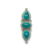 Load image into Gallery viewer, big turquoise sterling silver statement ring