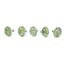 Load image into Gallery viewer, Prehnite Stone Gemstone Ring Sterling Silver - Quirky Pieces