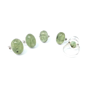 Prehnite Stone Gemstone Ring Sterling Silver - Quirky Pieces