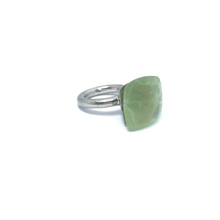 Load image into Gallery viewer, Prehnite Square Stone Gemstone Ring Sterling Silver - Stoned Hilda Discover the soul of Gemstones