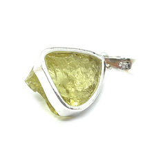 Load image into Gallery viewer, lemon quartz rough gemstone sterling silver pendant