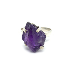 Load image into Gallery viewer, raw amethyst silver ring